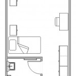 New Residence Hall Room Floorplan